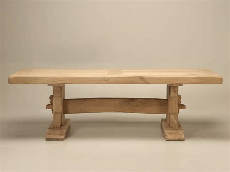 antique french oak trestle dining table  stdibs