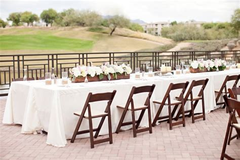 Westin Kierland Resort Scottsdale Wedding From Gina Meola Rectangular Tables At Wedding Reception