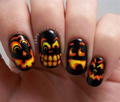 nail pumpkin 25 scary nails designs ideas trends