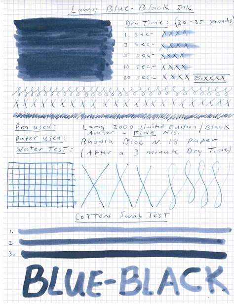 blue review lamy blue black ink review see before you buy