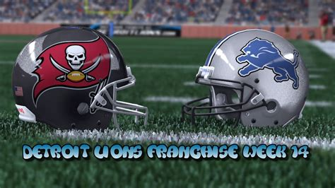 ta bay buccaneers c 15 madden 15 detroit lions franchise week 14 vs ta bay