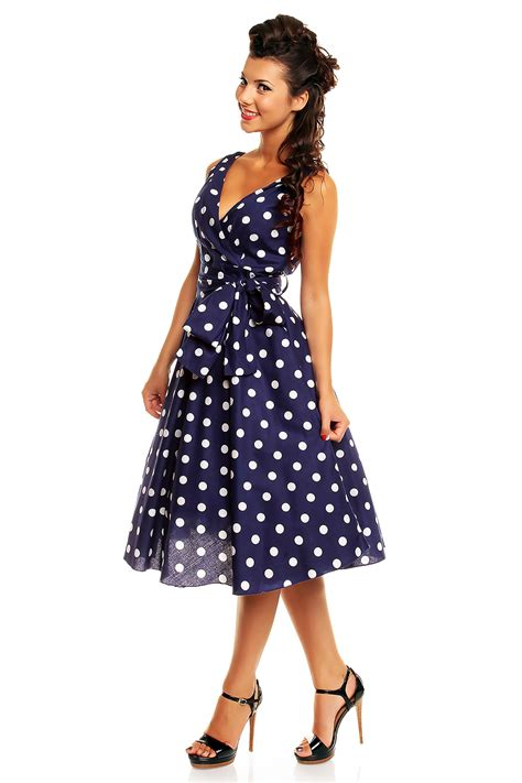 1950s polka dot swing dress ladies marilyn 1950 s rockabilly polka dot retro swing