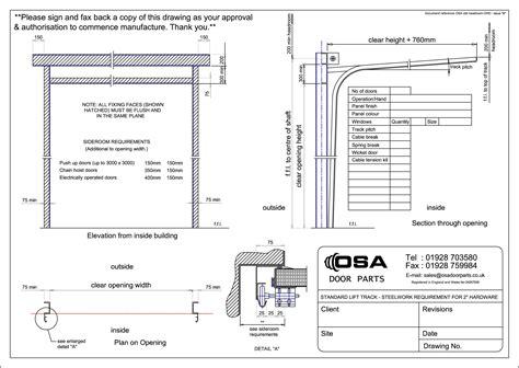 Drawings For Sectional Overhead Doors 187 Osa Door Parts Limited Overhead Door Detail