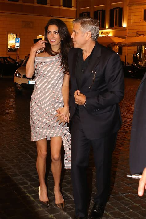 Amal Clooney in Jumpsuit on Italian Date   Amal Clooney