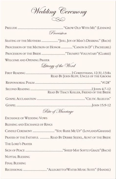 wedding music layout wedding ceremony program clipart 43