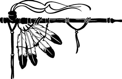 Black And Piven Smoke The Peace Pipe Together peace pipe feather smoke indian bead leather vinyl decal