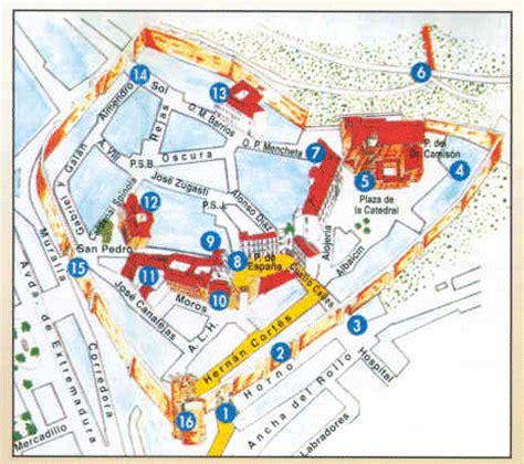mapa coria plano de coria