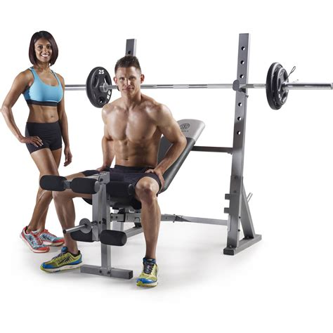 gym bench and weights gold s gym xr 10 1 olympic weight bench by icon health and