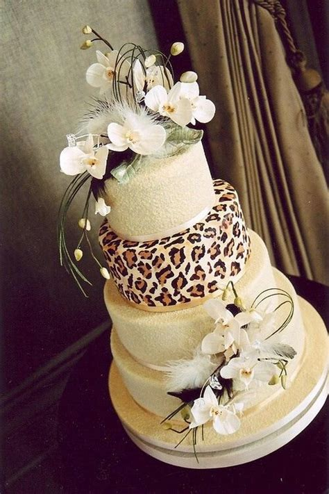 leopard print wedding cake designer cakes cupcakes and more pin