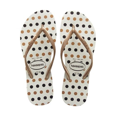 Havaianas Slim Polkadot havaianas slim fresh white gold slim fit with polka dot havaianas from jelly