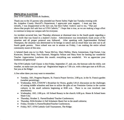 9 Thank You Letters To Parents Sle Templates Letter Template For Parents
