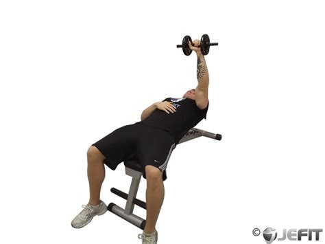 dumbbell exercises on bench dumbbell one arm bench press exercise database jefit
