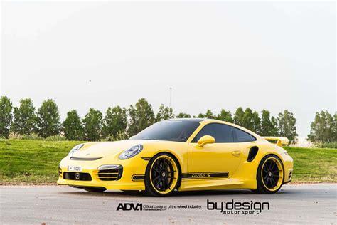 Porsche 911 Turbo Gelb by Yellow Porsche 911 Turbo S By Bydesign Motorsport Gtspirit