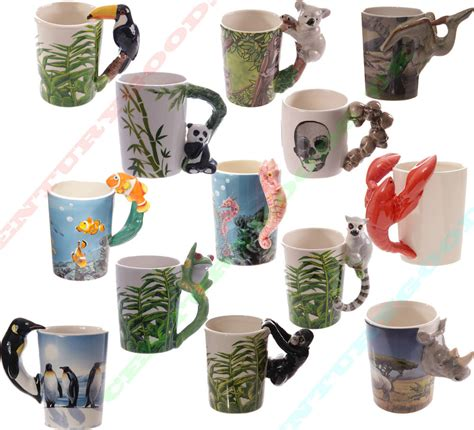 animal shaped mugs various novelty shaped handle animal 3d ceramic coffee