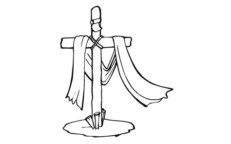 dibujos para colorear de la cruz cruz con manto imagenes wallpapers dibujos para