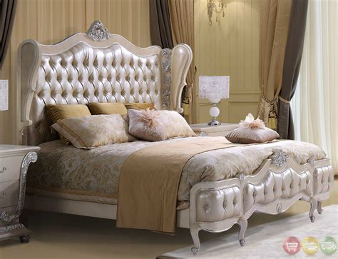 tufted bedroom set classic style button tufted size metallic bedroom