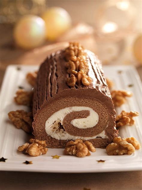 tronco de chocolate tronco navide 241 o con chocolate y nueces nueces de california
