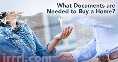 Documents Needed To Buy A House