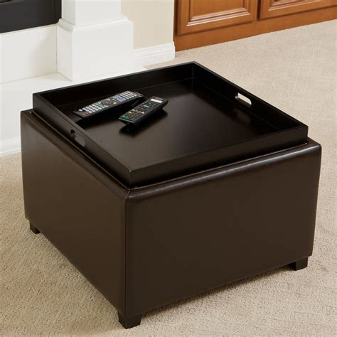 Tray Top Storage Ottoman Jefferson Tray Top Storage Ottoman Great Deal Furniture