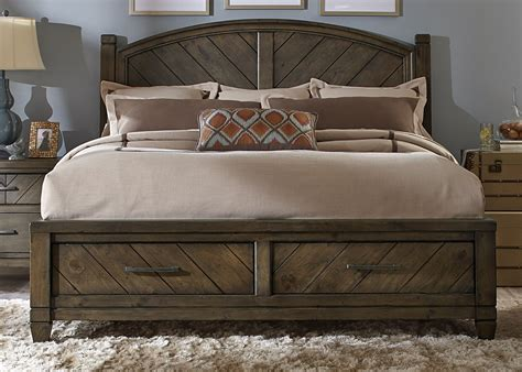 modern country king poster storage bed from liberty 833