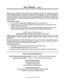 sles of resumes careerperfect 174 sales management sle resume