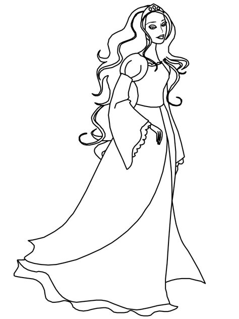 little girl princess coloring page princess coloring pages for girls coloring home