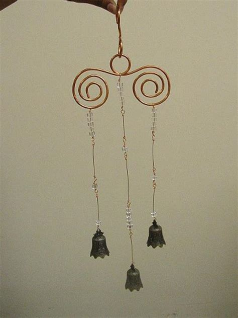 diy beaded wind chimes bell bead and wire wind chime diy