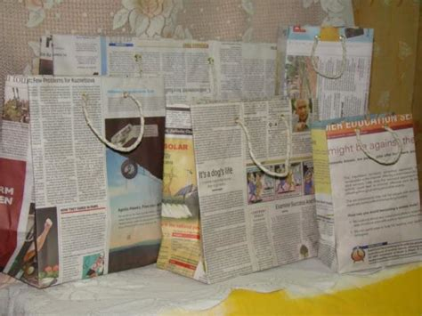 Recycled Paper At Home - 19 diy newspaper bags guide patterns