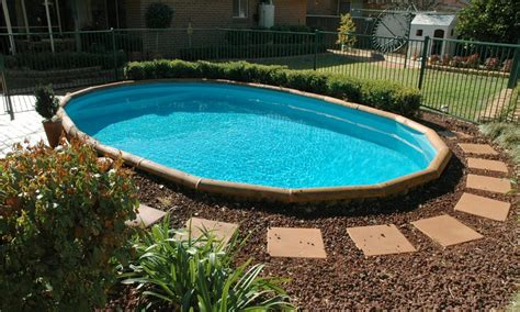 simple landscaping around above ground pool ideas