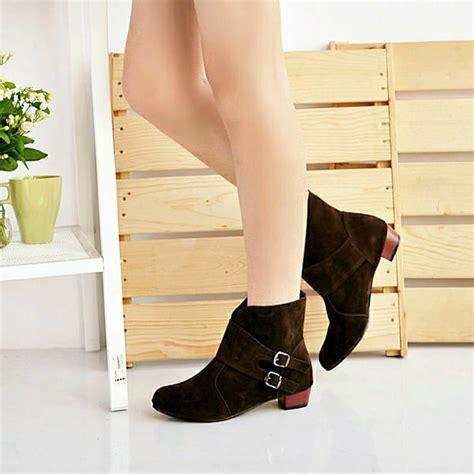 Highheels Us12 Hitam 5 us size 5 12 boots casual outdoor slip on high heel shoes us 35 64