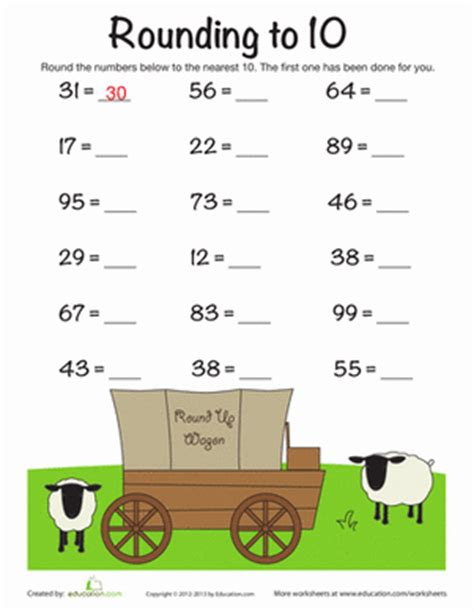 Rounding To The Nearest 10 Worksheets 3rd Grade by Worksheets Education