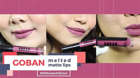 Lipstik Goban by Goban Cosmetics Melted Matte Lip Fd Swatch Doovi