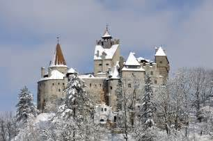 bran castle romania bran castle romania castle overview at winter