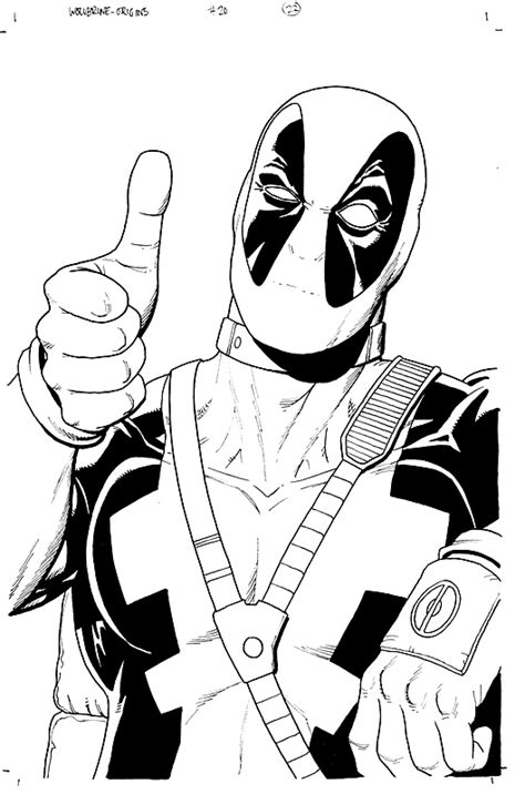 Displaying 14 Gallery Images For Deadpool Coloring Pages sketch template