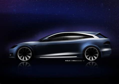 Tesla Model S Designer Designer Pens A Tesla Model S Shooting Brake Motor