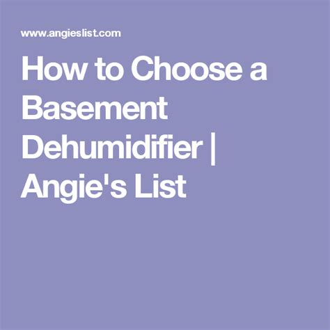 How To Choose A Basement Dehumidifier Angie S List How To Choose A Basement Dehumidifier Home Ideas Basement Industrial Pipe And