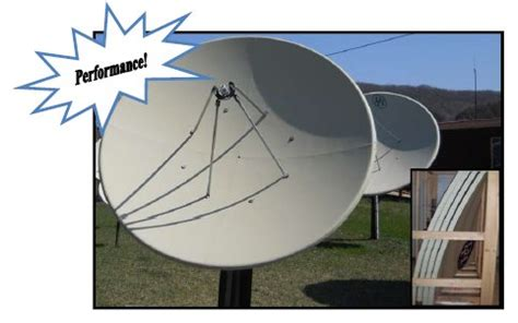 Dish Solid Freesat 8 Ft 2 4 Meter rainier satellite c band satellite dishes polar mount