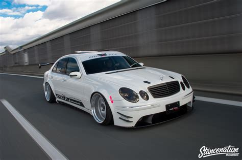 bagged mercedes e class style is everything toshiki omura s w211 mercedes benz