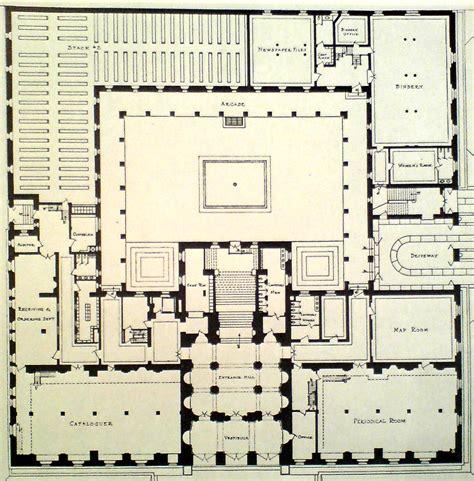 public library floor plan boston public library mckim mead white tek i che