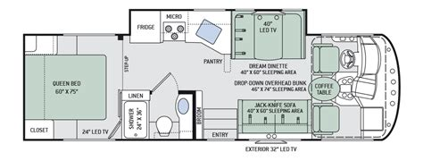 thor rv floor plans thor a c e floor plans thor ace floorplans