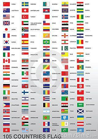 country names in country flags search flags