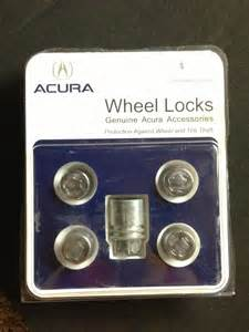 fs genuine acura lug nuts wheel locks and key