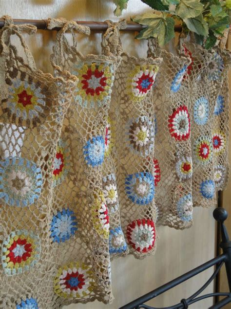 crochet kitchen curtain http lomets