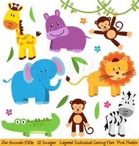 Jungle Animal Templates zoo tiere svgs zoo safari dschungeltiere schneiden vorlagen