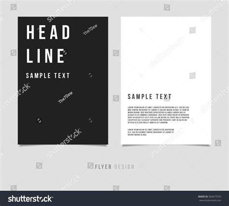 magazine layout minimalist abstract minimalism design vector template layout 스톡 벡터