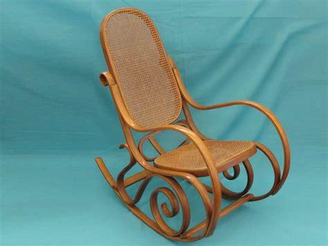vintage thonet style cane bentwood rocking chair   italy ebay