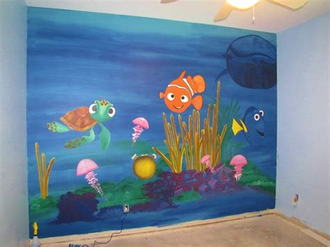 finding nemo baby room decor finding nemo mural nursery orlando by impact lighting inc