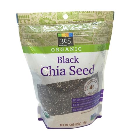 Chia Seed Organic Black 900gr 365 Organic Black Chia Seed 15 Oz From Whole Foods