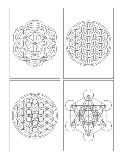 printable crystal grids images