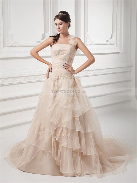 Halter Tulle over Satin Wedding Dress with Applique and